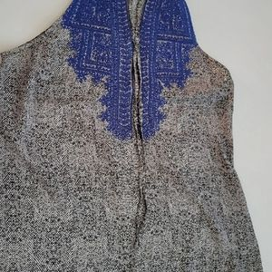 THML black and white with blue embroidery